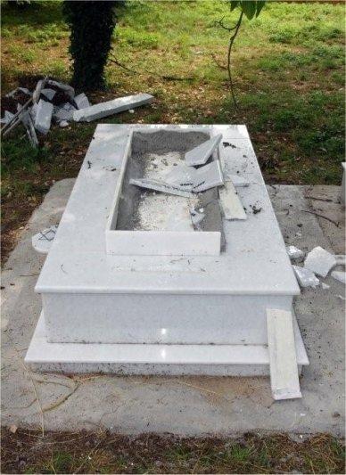 desecrated gravestone form KIS